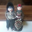 Handmade Sitting Armenian Folk Dolls, Collectable Armenian Dolls