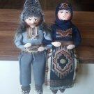 Handmade Sitting Armenian Folk Dolls, Collectable Armenian Dolls