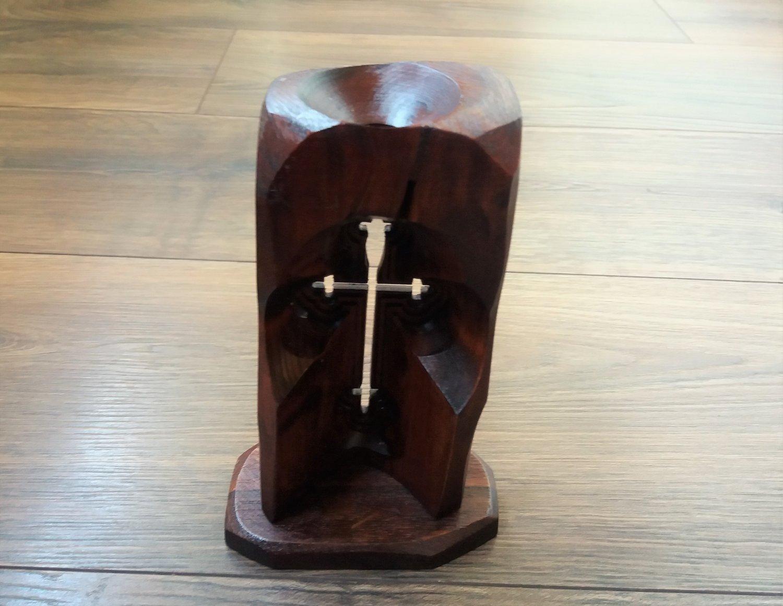 Armenian Wooden Cross Candle Holder, Decorative Wooden Cross Candle Holder