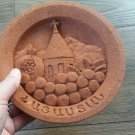 Armenian Decorative Plate in Tuff Stone, The Art of Carving, Stone Plate