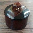 Round Obsidian Box, Armenian Handmade