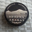 Obsidian round box made in Armenia with The Mount Ararat