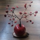 Red Coral Fertility and Good Fortune Pomegranate Tree