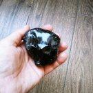 Raw Black Obsidian, Rough Obsidian, Natural Stones, Gemstone, Healing Stones, Chakra 330gr