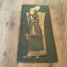 Vintage Embossed Copper Wall Decoration of Anoush, Armenian Anoush Love Story, Chekanka