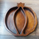 Handmade Sectional Armenian Pomegranate Wooden Serving Tray