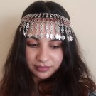 Pomegranate & Pomegranate Seeds Stones Forehead Silver Plated Drop, Armenian Headpieces Drop