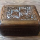 Handmade Armenian Wooden Box with Eternity Sign and Armenian Symbols
