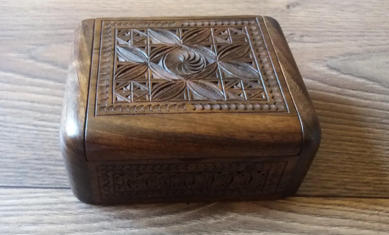 Handmade Armenian Wooden Box with Eternity Sign