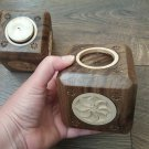 Armenian Wooden Candle Holder, Square Candle Holder, Eternity Candle Holder