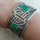 Silver Plated Curved Square Shaped Armor Link Bracelet, Armenian Bracelet, Ethnic Tribal Bracelet