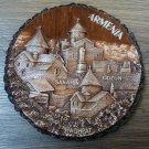 Decorative Wooden Wall Plate, Sanahin, Odzun, Haghpat Wall Plate, Armenian Scenery Hanging Plate