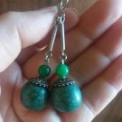 Calcite Natural Stone and Sterling Silver drop dangle earrings
