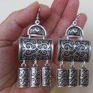 Armenian Curved Rectangular Dangle Drop Earrings, Ethnic Drop Earrings