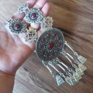 Silver Plated Anahit Sun Drop Coin Statement Necklace, Armenian Goddess Statement Necklace