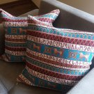 Handmade Armenian Pillow Cases, Cushion Cover, Striped Pillows, Armenian Alphabet, Armenian Design
