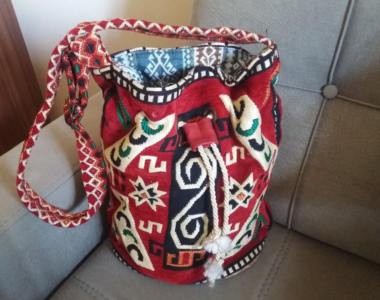 Handmade Armenian Hobo Bag, Armenian Rug Carpet Shoulder bag, Ethnic Bag