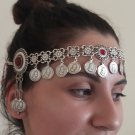 Tigran the Great Forehead Flowery Silver Plated Drop, Armenian Headpieces Drop