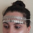 Flowery Pomegranate Forehead Silver Plated Drop, Armenian Headpieces Drop