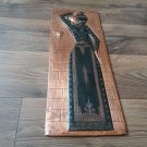 Vintage Embossed Copper Wall Decoration of an Ancient Armenian woman carrying Water