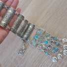Silver Plated Pomegranate Half Cylinder Long Ethnic Statement Necklace