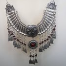 Silver Plated Drop Coin Anahit Necklace, Armenian Necklace