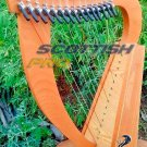 15 String Baby Harp Small Harp Mini Harp Lever Harp with Free Bag and String Set