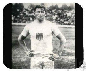 mouse pad JIM THORPE native american athlete mouse mat