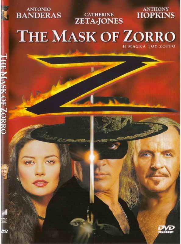 THE MASK OF ZORRO Antonio Banderas Catherine Zeta-Jones Hopkins (1998) R2 DVD