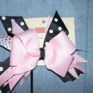 Black & Pink Flash Bow