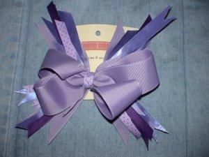 Purple & Lavender Flash Bow