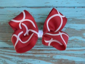 Red & White Bow