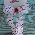 Baseball Print Bow