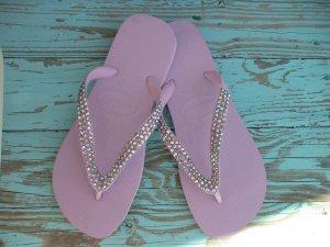 Swarovski Crystal Flip Flops - Lavender