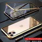 Double-sided Glass Phone Case Metal Magnetic Cover For Iphone 11pro