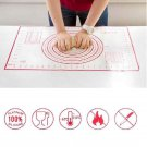 50x70cm Extra Large Silicone Baking Mat with Measurements FREE 35cm Rolling Pin