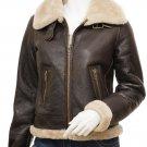 Women's Brown Sheepskin Flying Jacket