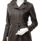 Women's Leather Jacket In Brown Addison