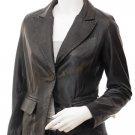 Women's Leather Blazer In Black Aliceville