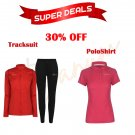 Park tracksuit with a beautiful poloshirt for girls