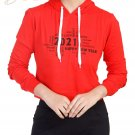 New year quoted sweat shirt in Orange
