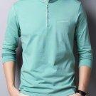Solid Men Mandarin Collar T-Shirt