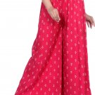 Regular Fit Women Red Cotton Rayon Blend Trousers