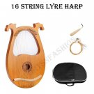 yre Harp,16 Wooden String Harp Solid Wood Mahogany