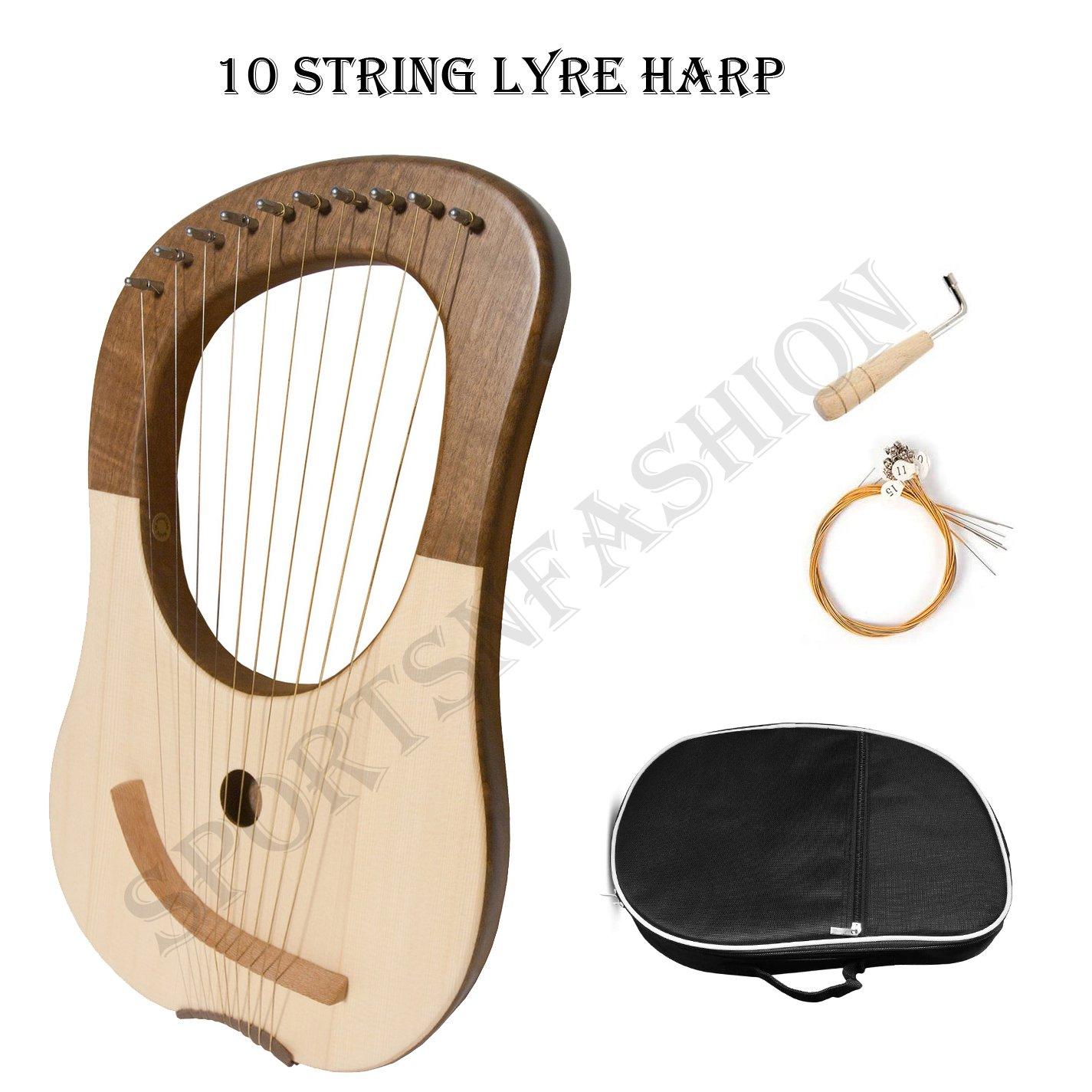 Lyre Harp 10 String - Walnut