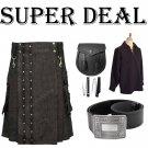 Super Deal Danum Kilt With Detachable Apron For Men