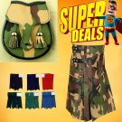 Super Deal Camouflage Utility Kilt For Men with sporran & kilt Flashes