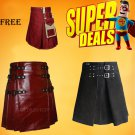 Super Deal Two Leather Kilts with free Cotton kilt