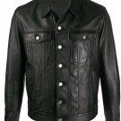 Saint Laurent button-up leather jacket