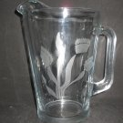 NEW ETCHED VENUS FLYTRAP GLASS BEER ICED TEA WATER SANGRIA PITCHER